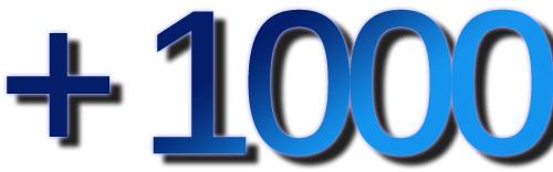 +1000